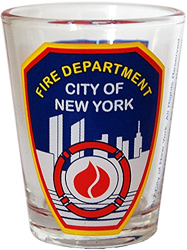 New York Fire Department- FDNY Clear Shot Glass