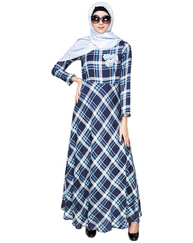 Dubai Abaya Wholesale Printed Maxi Dress Muslim Dress Islamic Clothing