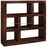 Wooden Decorative Library Book Shelves ~ Office Furniture Wood Book Shelves ~ Magazine Rack~ Solid Wooden Book Display Shelves