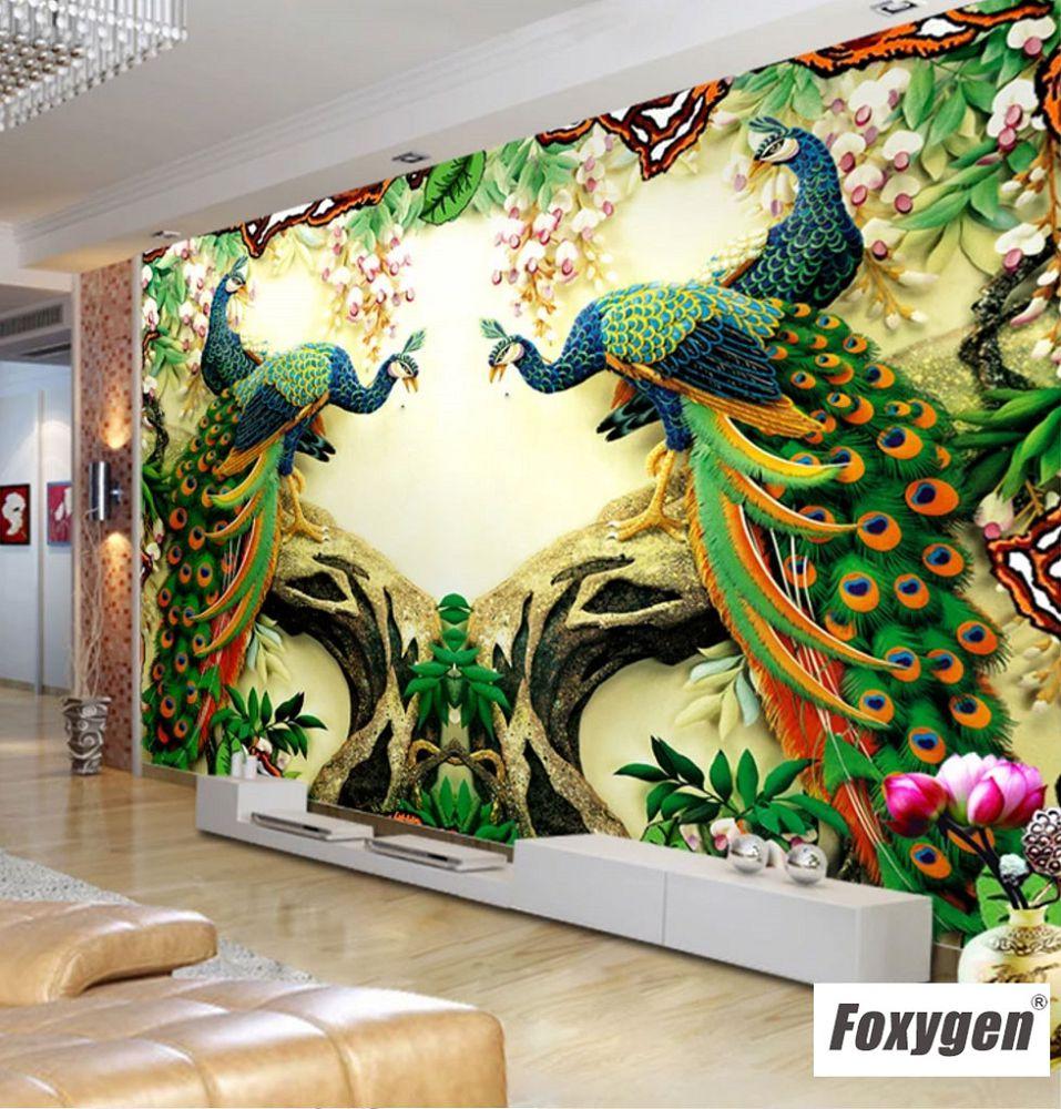 3d 5d 8d Mural Wallpaper Peacock Design Wall Photo Mural
