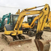 100% Japan used mini small hydraulic excavator Komatsu PC55 for sale