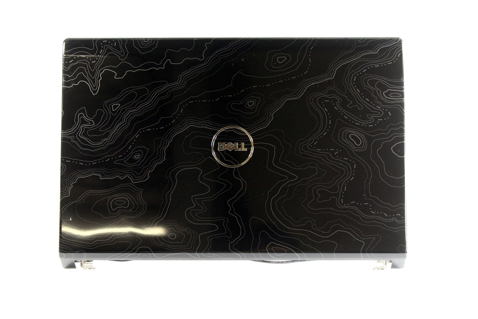 New Dell Studio 1555 1557 1558 15.6 Black Swirl LCD Back Cover with Hinges W413J