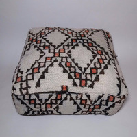 Vintage moroccan Boujaad azilal berber tribal floor pillow covers wholesaler beni ourain cushion