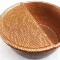 Spa Bowl Foot Soak Hammered Copper Bowl
