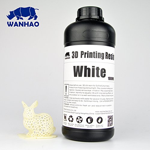 Wanhao UV Cure 3D Printer Resin - White 1L