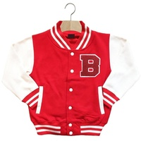 2019 Sport Sublimation Red fleece Baby Pullover Jackets With Pocket