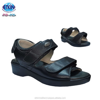 Best Selling Orthopedic Diabetic Shoes Leather Sandals Model Cheap