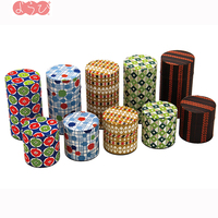 High quality Japan motif paper tin box can tea caddy for storage and gift