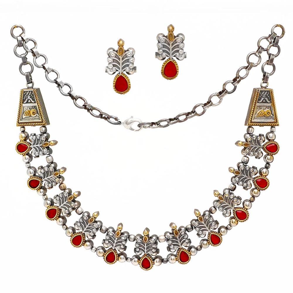 maroon best online women set buy zaveri zinc prices golden for india necklace reviews pearls
