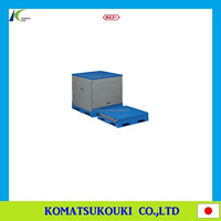 Stackable and foldable Japan SANKO industrial box palette, storage container and plastic box also available