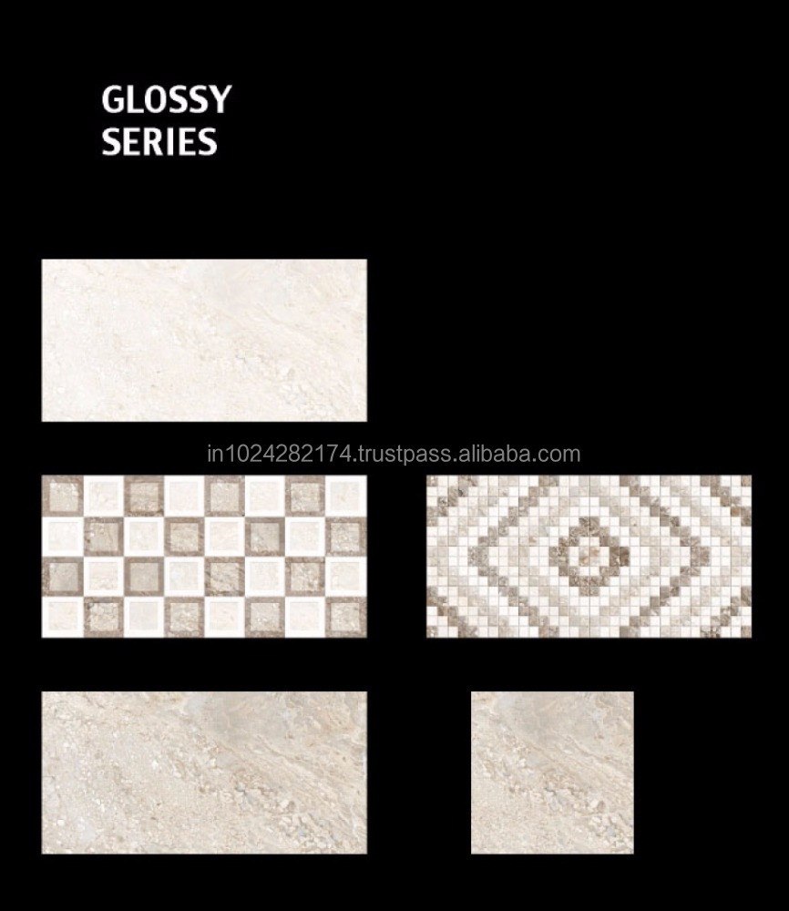 Cheap price Grade AAA crystal 300X600mm white Vitrified toilet kitchen Wall Tiles SI-54