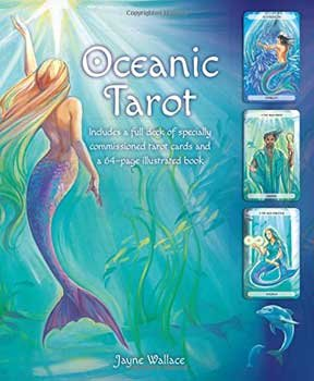 Novelty Toys Tarot Cards Ocean Themed Mermen Mermaids Sea Creatures Full Color 78 Cards