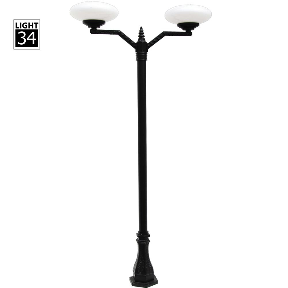Street Garden Park Lighting Outdoor Lamp Post Double