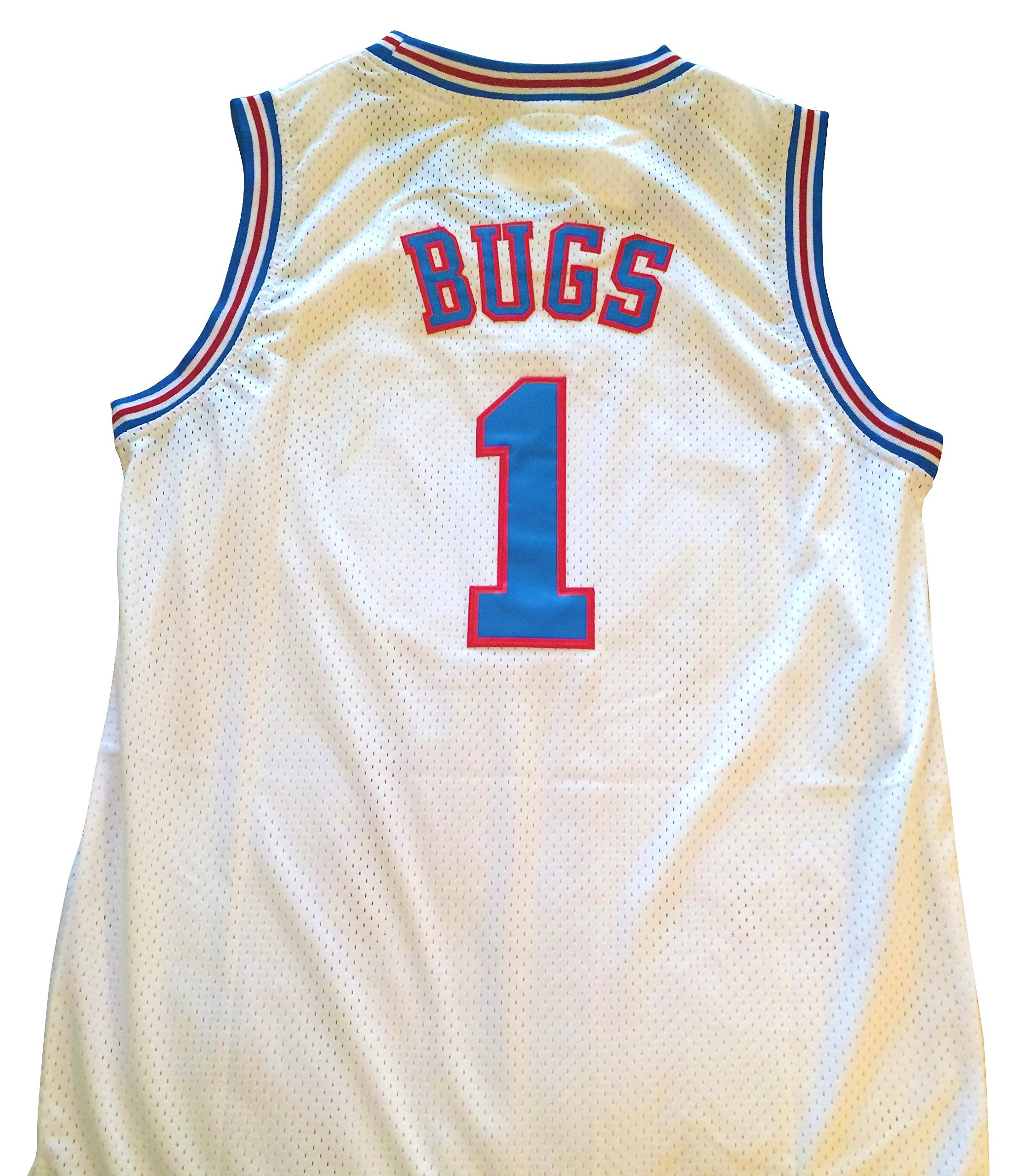 2fa6137a3d486 Get Quotations · Bugs Bunny Space Jam Jersey -  1 Tune Squad - White  (Medium)