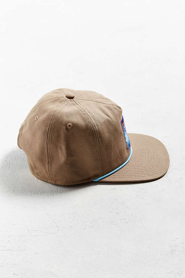 Flat embroidery nylon rope canvas five panel custom snapback hat with string a2253079970