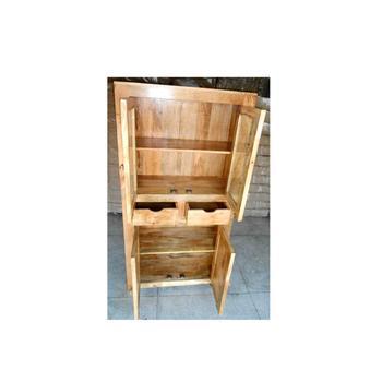 Terrific Rustic Finish Mango Wood Almirah Cum Book Shelf With Glass Camellatalisay Diy Chair Ideas Camellatalisaycom