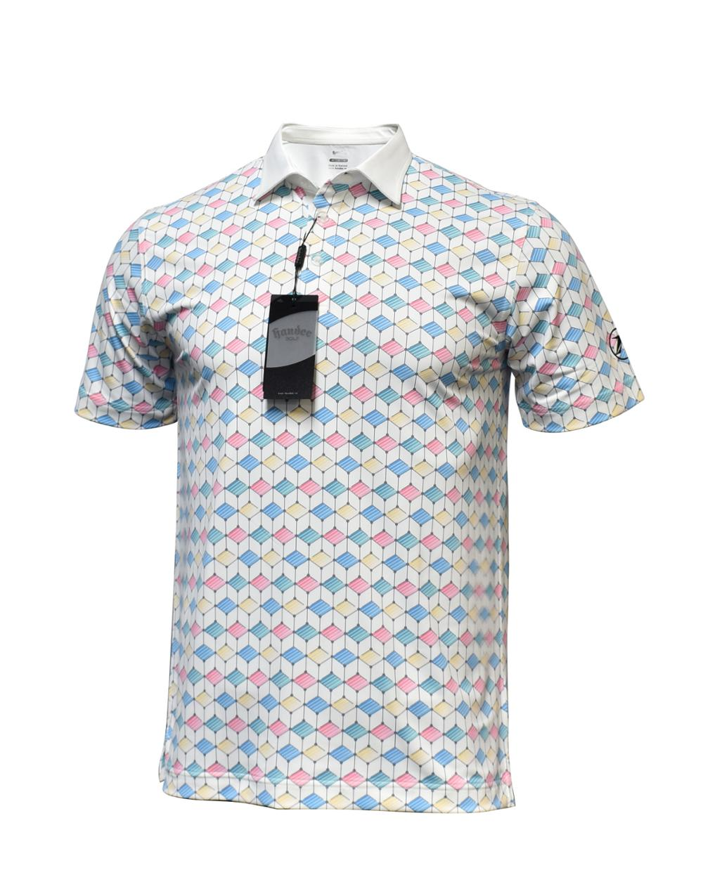 OEM High Quality Clothes Fashion Polyester Printed Men'S Golf Polo T Shirt