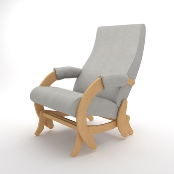 Wooden Rocking chair Glider-68M (Light Grey)