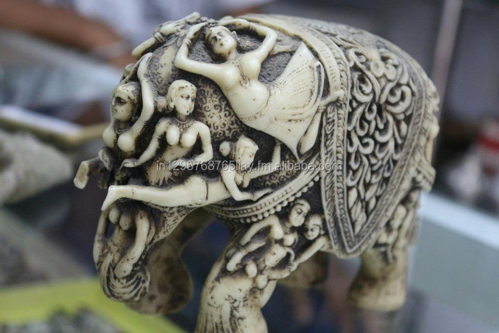 Antique Bone Carved Elephant Buy Bone Antique Elephant Product On Alibaba Com