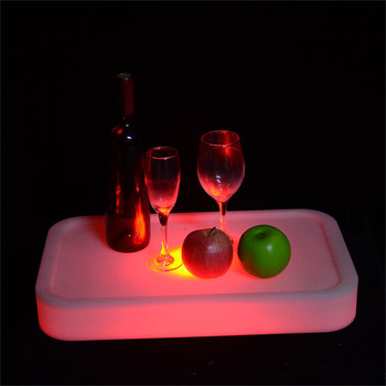 light up serving tray champagne rechargeable luminous led ice bucket