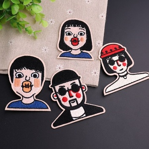 Figure Embroidery Cloth Sticking Fashion Clothing Decoration Patch Sticking European and American Popular Computer Embroidery