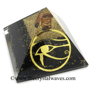 Wholesale Shungite Chips Orgone Pyramid With Eye Of Horus Symbol 100 % Natural from Karelia