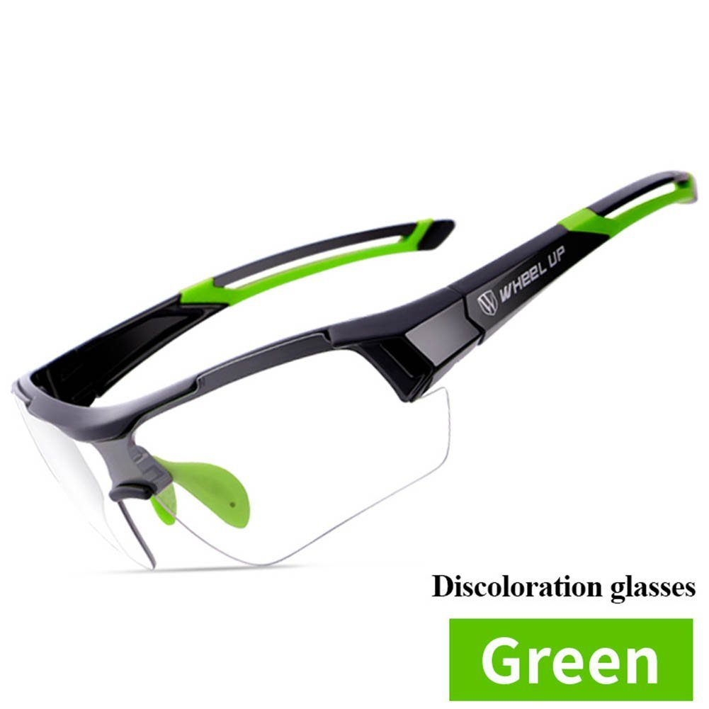 51f39ccb1bac Get Quotations · ELEOPTION Sports Sunglasses Photochromic Cycling Glasses  Discoloration Glasses MTB Road Bike Sport Sunglasses Anti-UV