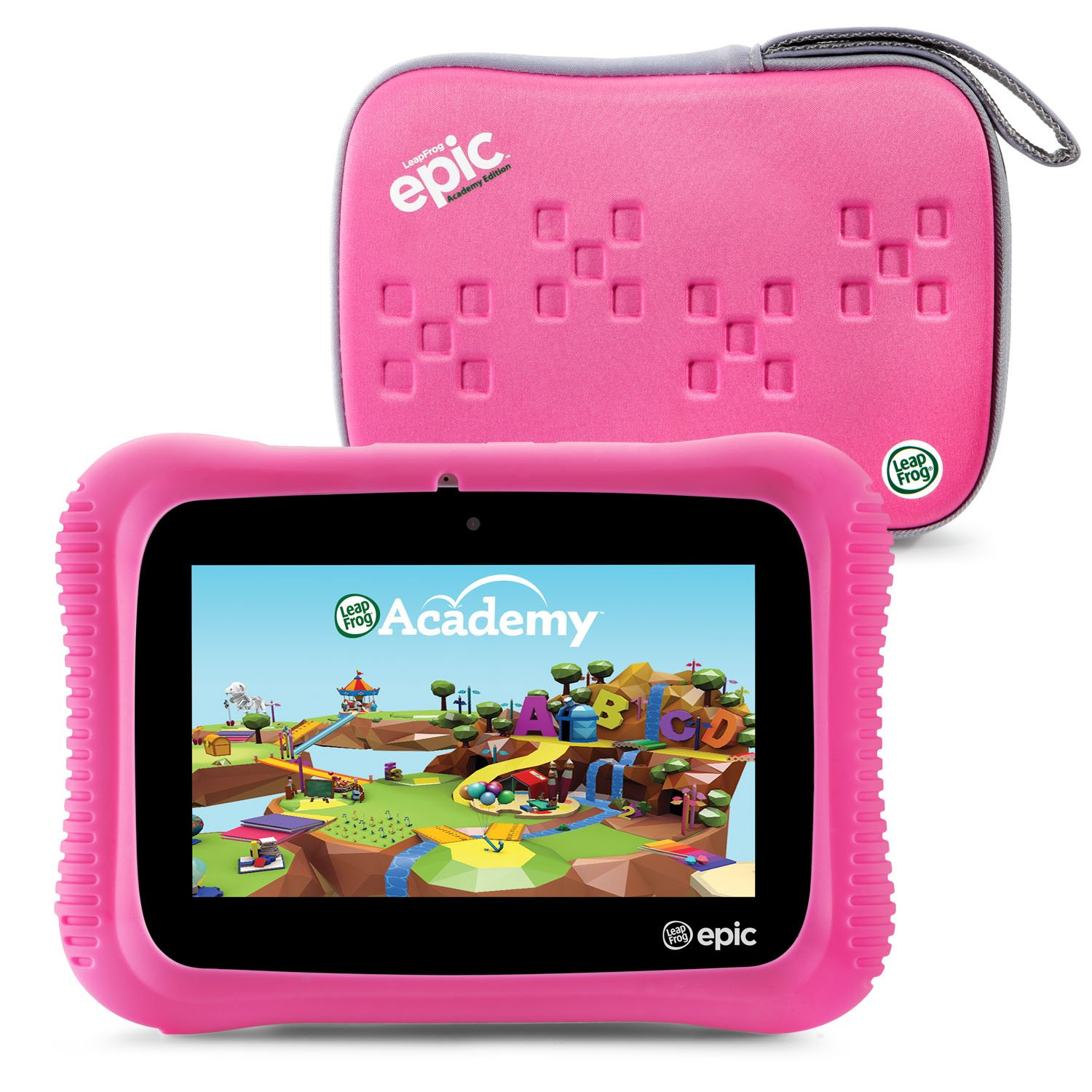 LeapFrog Epic Academy Edition 7'' Android 2.0 Based Kids Tablet-16GB with Carrying Case, Pink