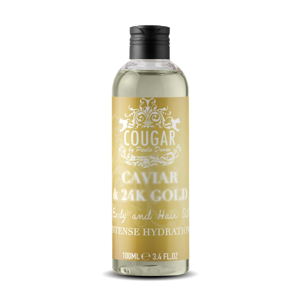 Cougar Beauty 24k Gold mit Caviar Body & Hair Oil