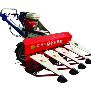 multi function crop harvester walking behind tractor cutter mini power wheat reaper pakistan front mounted rice reaper