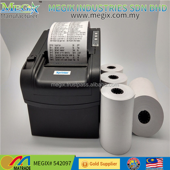 high quality 3 1/8* 230 POS cash register thermal paper roll factory