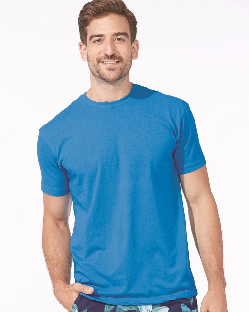 Next Level Apparel Men's Premium CVC Crew Tee - made from 60% combed cotton and 40% polyester jersey. Comes with your logo.