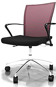 "Mayline Valore Mesh Back Task Chair Overall Dimensions: 23 1/2""W X 20 1/2""D X 36 1/2""-40 1/4""H Seated Area Dimensions: 19.5""W X 17""D X 18""H Seat Height: 18.5""-22.25"" - Burgundy"