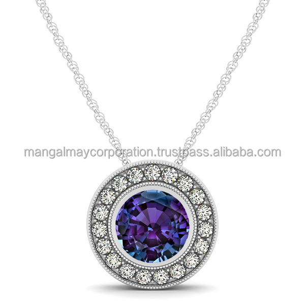 new fashion 925 sterling silver round pendant