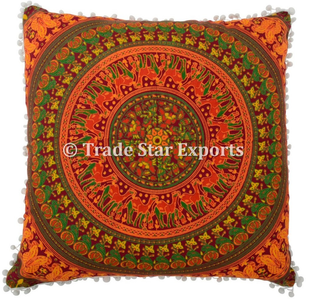 "Bohemian tapestry pillow case cover 26X26"" indian cushion covers"