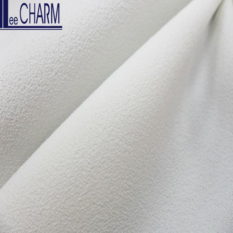 LCL138 Taiwan 100 Polyester Stretch Bubble Moss Crepe De Chine Fabric