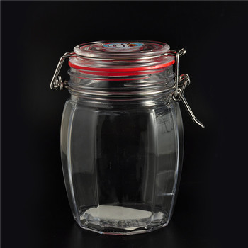 wholesales glass airtight canister with lid