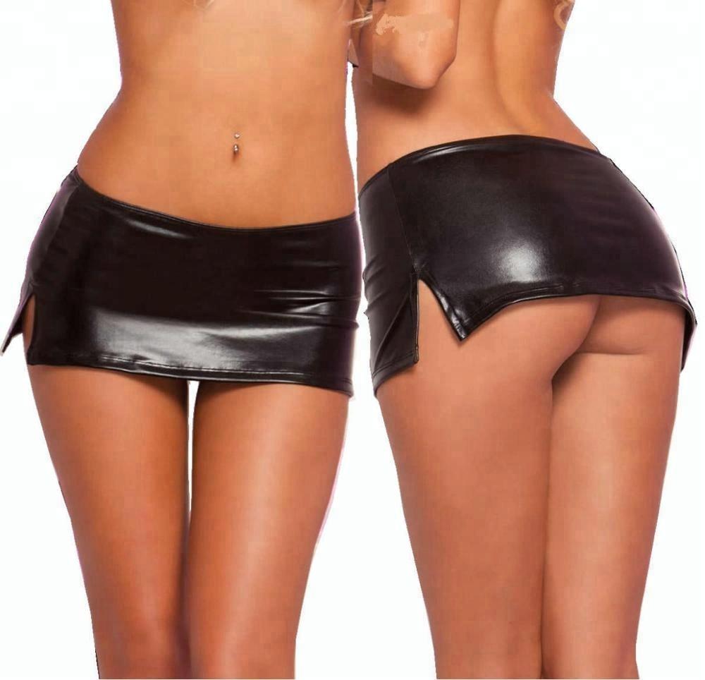 Секси кожаные мини юбки — pic 2