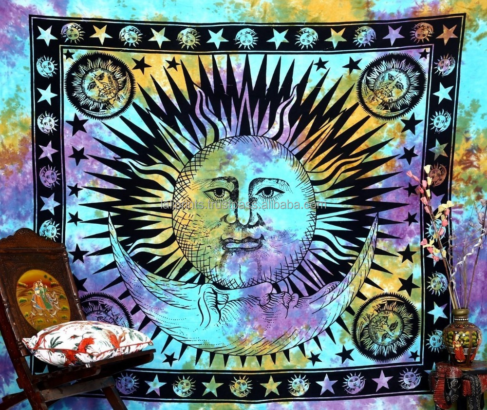 Large indian mandala queen tapestry hippie wall hanging bedspread dorm beach tapestry decorative gobelin indian wall tapestry