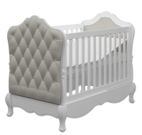 IN STOCK luxury cot bed hand-carved French Rococo style racoco crib