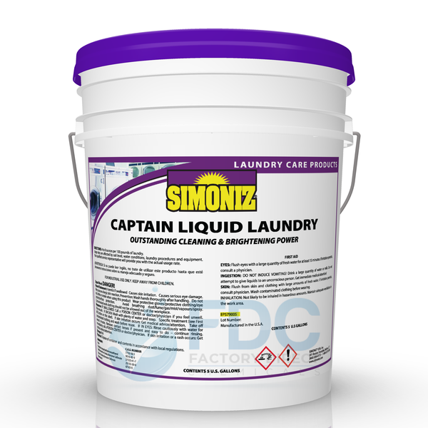 OPL CAPTAIN LIQUID ENZYME LAUNDRY DETERGENT - ถังบรรจุ 5 แกลลอน