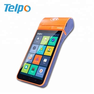 TPS900 5 5inch touch screen android handy pos system with printer, parking  receipt printer, billing payment machine