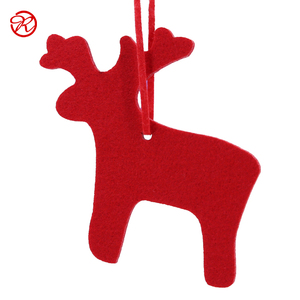 10cm cute red felt angel hanging ornament for christmas tree decoration