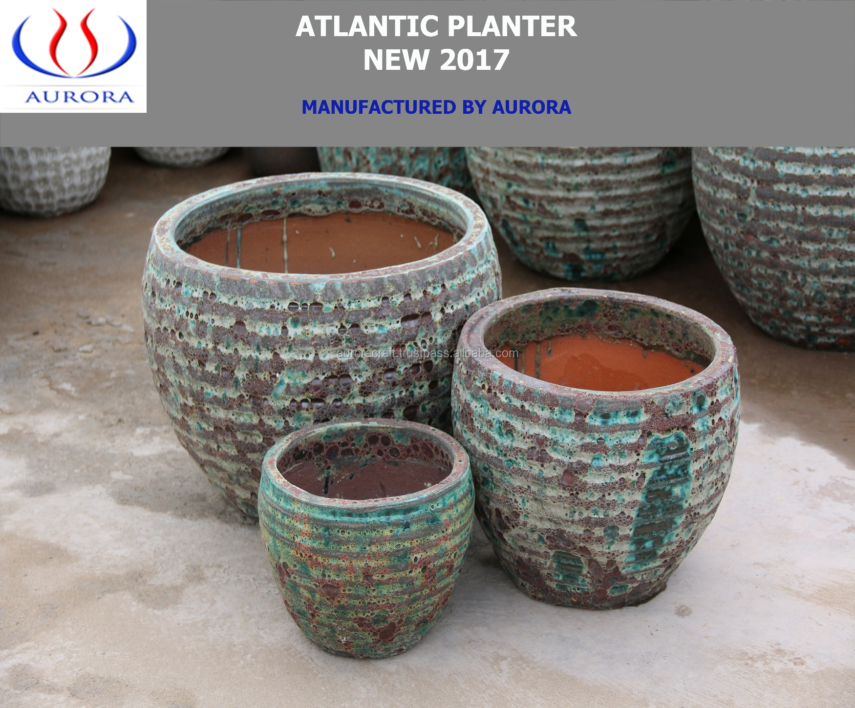 Beautiful Atlantic Ceramic Pots/Planter For Garden and Home