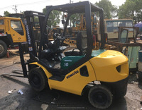 Good quality 2 mast used FD 30 ton komatsu forklift FD25 for sale/ komatsu forklift with low price