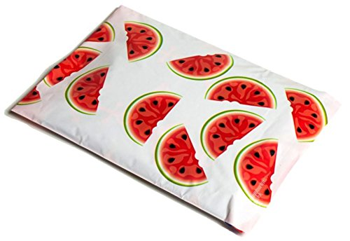 (50 bags) 10 x 13 Designer Poly Mailers Watermelon By Upaknship