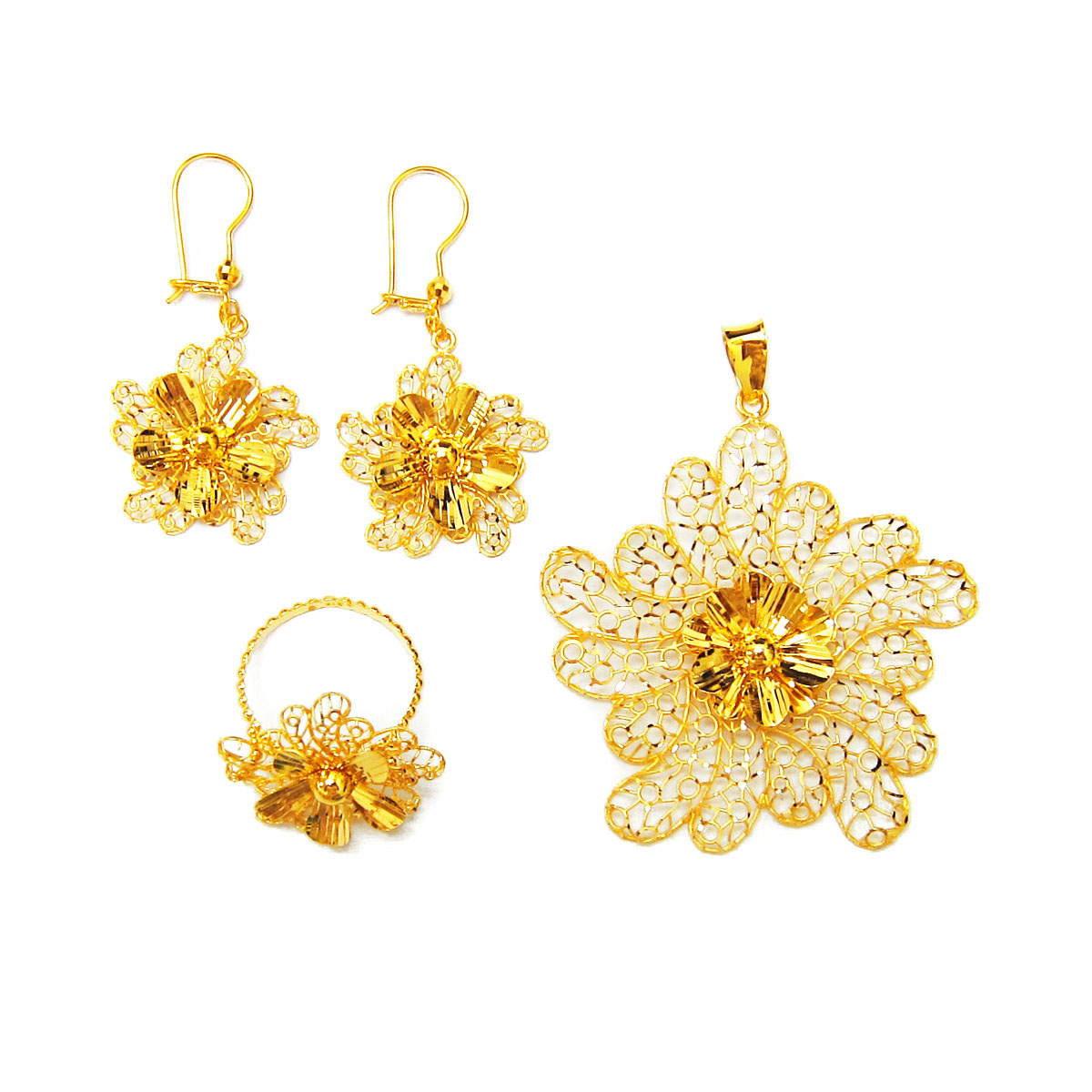 d718b077bb115 Dubai Middle East Arabic Pure Gold Jewelry Light Weight 18k 21k 22k Fine  Yellow Gold Jewellery Set