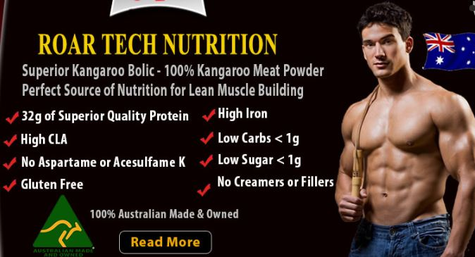 Superior Kangaroo Bolic - Kangaroo Meat Protein Sports Supplement - Lean Protein - High in Iron & CLA