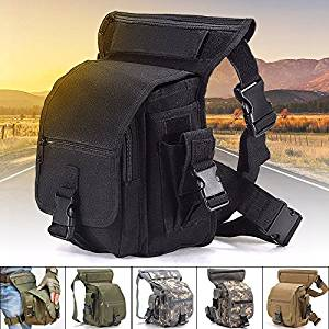 Multi-purpose Drop Leg Bag,Military Tactical Canvas Waist Pack,Racing Tactical pockets,Utility Pouch Bag,Thigh Tactical Bag-waterproof,durable and anti-tear-for Outdoor by CAMTOA