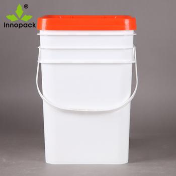 5 Gallon Rectangular Plastic Bucket With Handle And Lid - Buy 5 Gallon  Bucket With Tap Lid,5 Gallon Plastic Bucket,Rectangular Plastic Bucket With  Lid